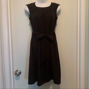 Black Sunhee Moon dress with pockets and belt sz S